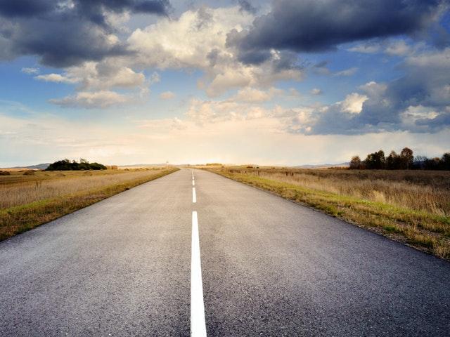 Öde väg för bilar